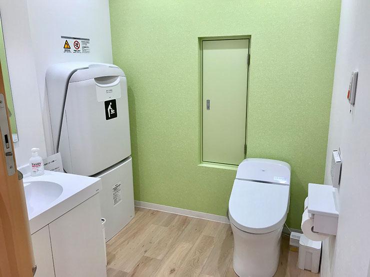 トイレ おむつ交換台を設置しています 写真