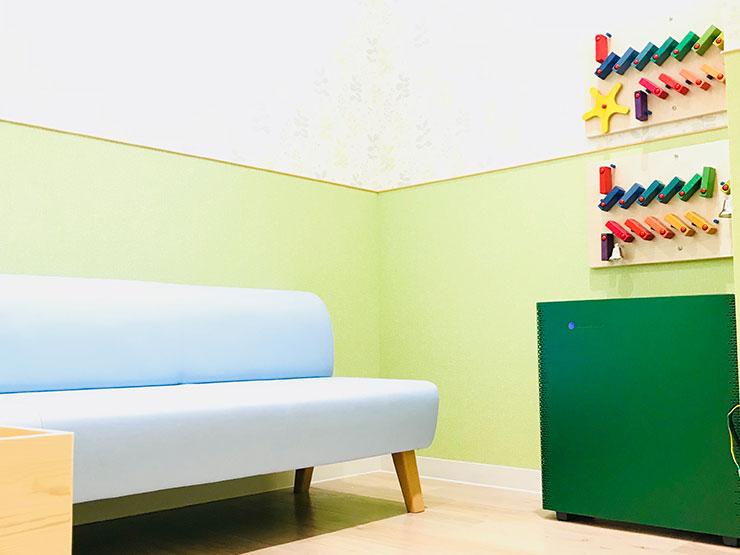 みどりの部屋 優しい色で設計しました 写真